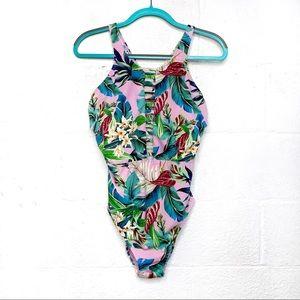 Miraclesuit Floral Leah Hi-Neck One Piece Swimsuit